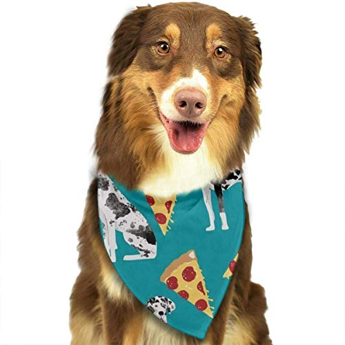nxnx Dog Bandana Great Dane Pizza Printed Pet Triangle Scarf Festive Accessory for Puppies