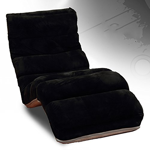 L-R-S-F Fauteuil Lounger Chaise Détachable Nettoyage Pliant Canapé Lit Chaise Balcon Lounge Chair ( Couleur : Noir )