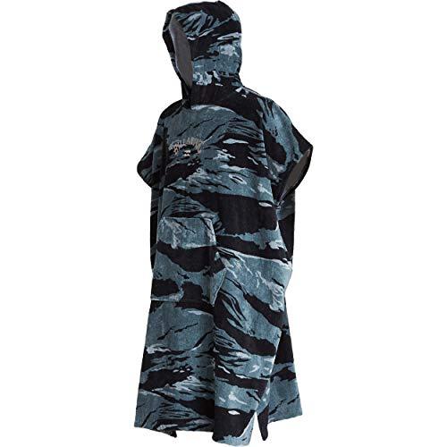 BILLABONG Hooded Poncho Change Robe Black Camo Q4BR01