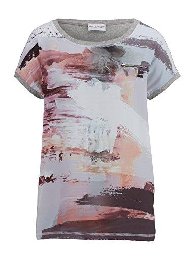 Damen Shirt mit bedrucktem Webeinsatz by AMY VERMONT Grau Bedruckt