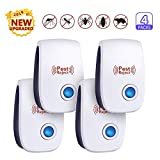 FUMENTON Ultrasonic Pest Repeller, Against Mosquito, Cockroach, Mice, Rodents, Spiders, Flies, Ants, Fleas,Non-toxic