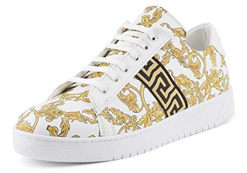 Fusskleidung Herren Business Casual Schnür Halbschuhe Sneaker Sportschuhe Freizeit Weiß EU 43 (Schuhe Gucci Herren)