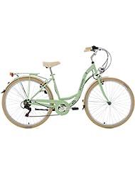 KS Cycling Damen Fahrrad Cityrad Casino 6 Gänge, mintgrün, 28, 715C