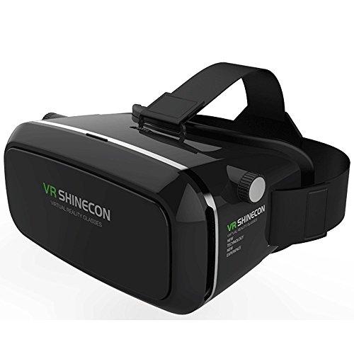 Galleria fotografica Almatess NUOVO AGGIORNATO! VIRTUAL REALITY cartone TOOLKIT SMARTPHONE virtuale realtà visualizzatore 3D ColorCross Google cartone plastica versione universale VR completo Kit virtuale realtà occhiali auricolare per HD reale esperienza 3D VR