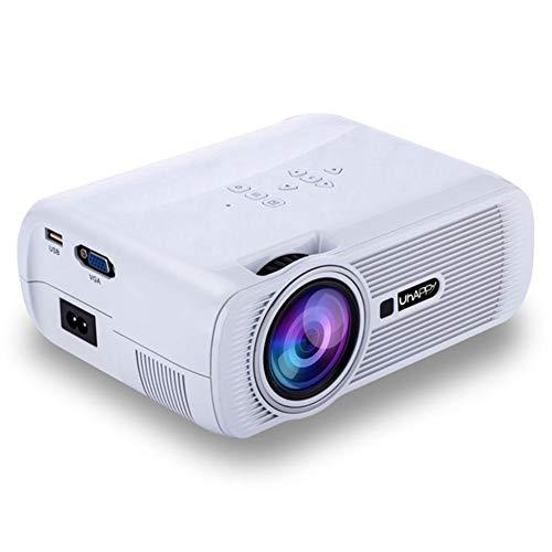 JYL Projektor 1080P Full HD und 170 '' Display unterstützt, 1500 Lumen Videoprojektor kompatibel mit USB-, SD-, HDMI-, VGA-, AV- und TV-Eingangsschnittstellen, Heimkino-Projektor,B 37 In 1080p Lcd Tv