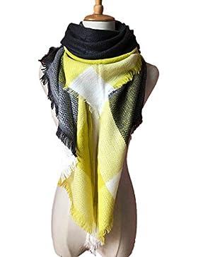 Bufandas Mujer Invierno Grib Grande Chal Cálido Moda Bufandas Largas de Invierno