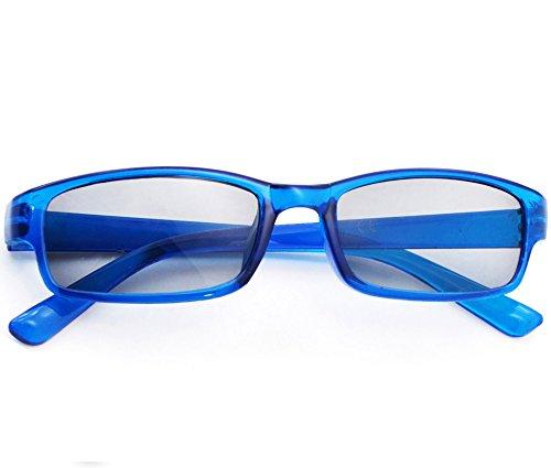 Damen Herren Lesebrille Sonnenbrille +1.5 +2.0 +3.0 +4.0 Slim Sun Readers Perfekt für den Urlaub Retro Vintage Brille MFAZ Morefaz Ltd (+2.00 Sun, Blue)
