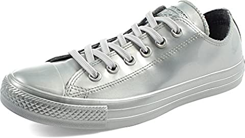 Converse - Frauen Chuck Taylor All Star Low Top Schuhe in Metallic Gummi, EUR: 40, Pure Silver/Pure Silver/Pure (Chuck Taylor Metallic Lo Top)