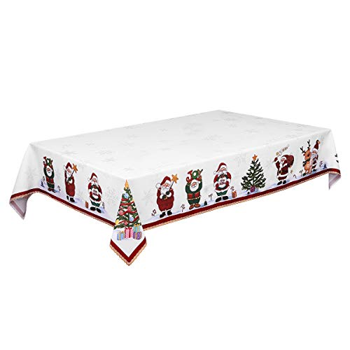 BESTonZON 84 x 60in Mantel Navidad Decorativo Camino