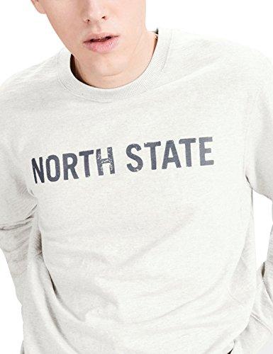 Jack & Jones Men's Men's White Melange Casual Sweatshirt 100% Cotton White