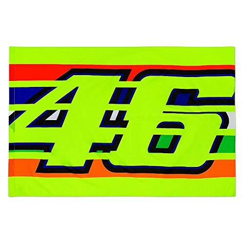 Valentino Rossi Vr46 Classic-Zubehör, Unisex Adult Flag, Mehrfarbig, 140x90 cm
