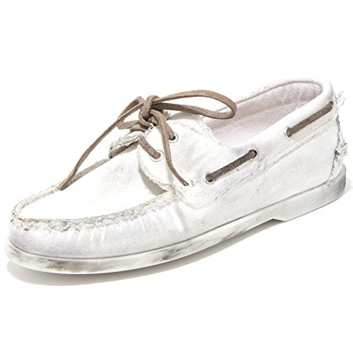 29704 Mocassino Crown Cuir Scarpa Donna Loafer Chaussures Femme Bianco