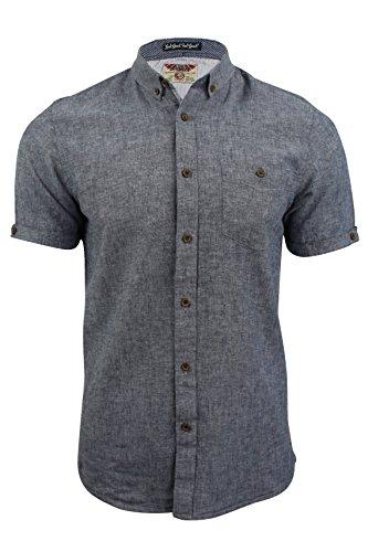 Chemise en lin à manches courtes 'Morales' par Tokyo Laundry pour homme Bleu médiévale