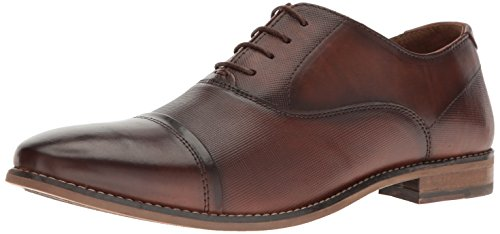 Steve Madden Men's Finnch Oxford, Cognac Leather, 12 M US - Steve Madden Oxford