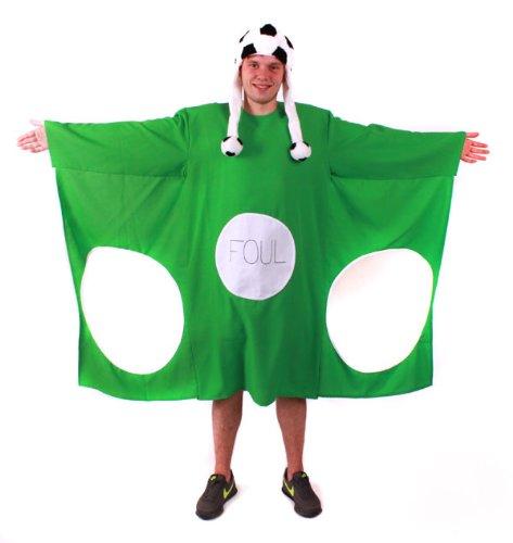Kostüm Torwand grün XL mit Fußball Mütze witzige Kostüme JGA (Fußball Kostüme Für Männer)