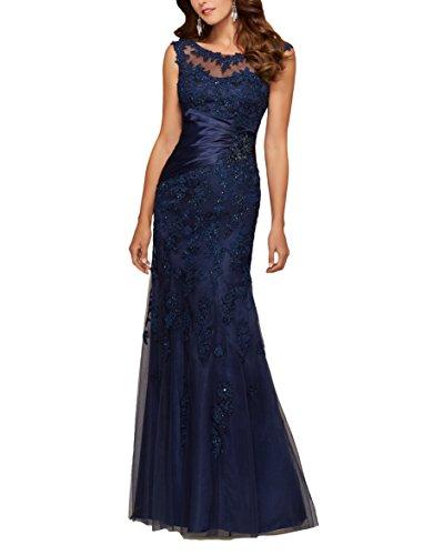 Bridal_Mall -  Vestito  - Maniche lunghe - Maniche corte  - Donna Blu