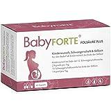 BabyFORTE Folsäure Plus - Vegan - Vitamine Kinderwunsch & Schwangerschaft - 17 hochdosierte Nährstoffe - 60 Kapseln bis zu 2 Monate + Laborgeprüft