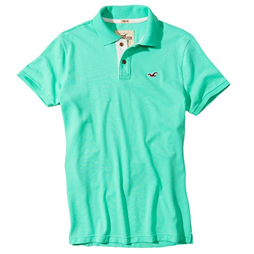 hollister-mens-stretch-slim-fit-pique-polo-shirt-tee-size-m-turquoise-627128770