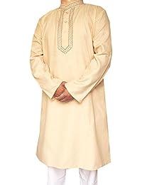 Maple Vêtements En Coton Brodé Hommes Kurta Pyjama Inde Vêtements