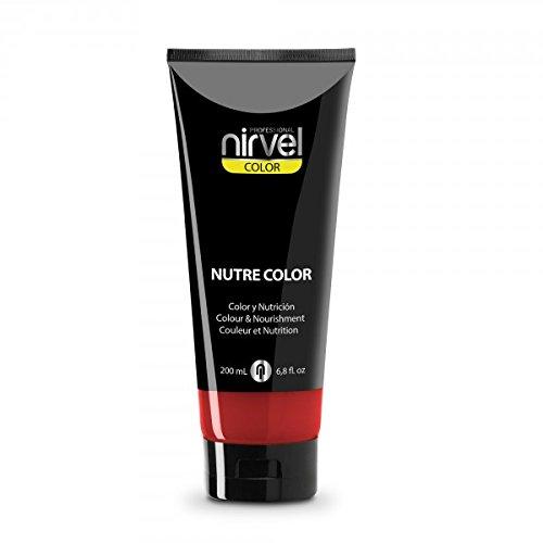 Nirvel NUTRE COLOR FLUOR Carmin 200 mL Mascarilla Profesional - Coloración temporal -...