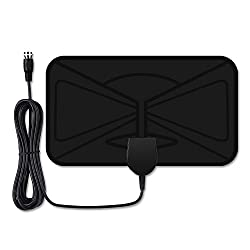 Tv Antenna, Victsing Ultra-thin Amplified Digital Tv Aerial Antenna, 25-mile Range 10 Ft Long Cable Indoor Hdtv Antenna For Digital Freeview & Analog Tv Signals, Window Aerial, Optimized Butterfly-s