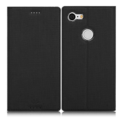 Eastcoo Google Pixel 3 Hülle, Flip Folio Wallet Leder Smart Case Tasche Schutzhülle Handyhülle mit [Kartenfach][Standfunktion][Magnetic Closure] für Google Pixel 3 Smartphone (Black)