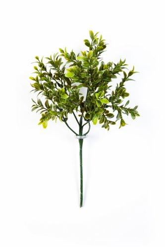 artplants – Deko Buchszweig Tom mit 6 Zweigen auf Steckstab, 45 cm – Künstlicher Bux Zweig/Kunstzweig Buchsbaum