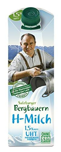 Preisvergleich Produktbild SalzburgMilch Salzburger Bergbauern H-Milch 1, 5% Fett,  12er Pack (12 x 1 l)