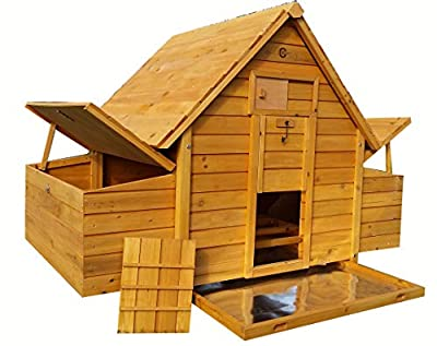 Cocoon Chicken Coop Hen House Poultry Ark Nest Box New - Larger Model 1000-2n With 6 Nest Boxes & Cleaning Tray - 6 Large Or 8 Medium Or 10 Small Birds from COCOON