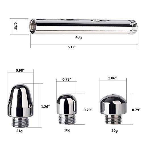 EROSPA® Anal-Vaginal Duschkopf zur Intim-Reinigung – Shower Dusch-Aufsatz Enemator Klistier – 3 verschiedene auswechselbare Köpfe – Aluminium