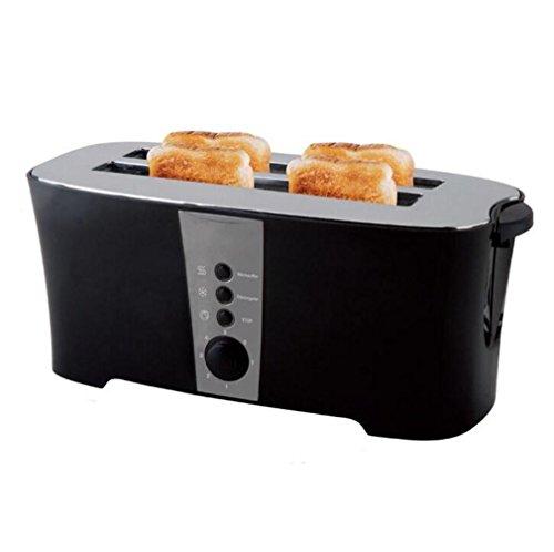Happybeauty 2 scheiben 4 Slice Toaster mit Cancel / Defrost / Reheat Funktion, 1300W, extra Wide Slots und Custom Toasting Einstellungen , B