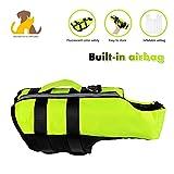 Nwayd Hunde-Schwimmweste,Eingebauter aufblasbarer Airbag,Hundebadeanzug-Schwimmen-Weste,Reflektierend einstellbar ,Hundegeschirr Weste Sommerkleidung Pet Schwimmweste.S