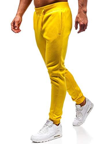 BOLF Herren Sporthose Trainingshose Jogginghose Sport Jogger Street Style J.Style XW01-A Gelb XL [6F6]