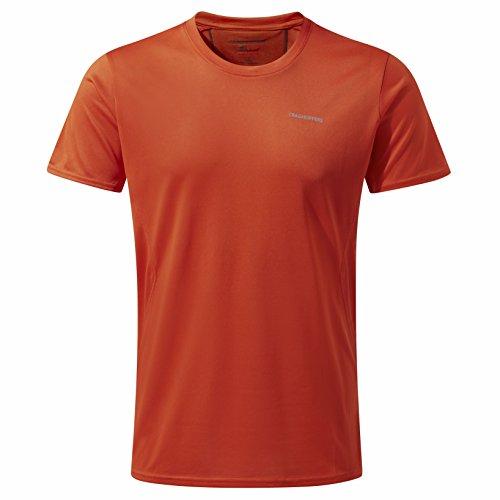 Craghoppers Herren Nosilife Active Kurzarm T-Shirt Spiced Orange