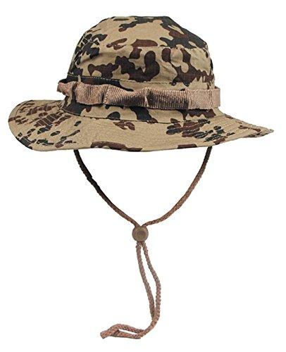 Unbekannt MFH Buschhut US mit Kinnband, GI Boonie Rip Stop M Beige - Camouflage