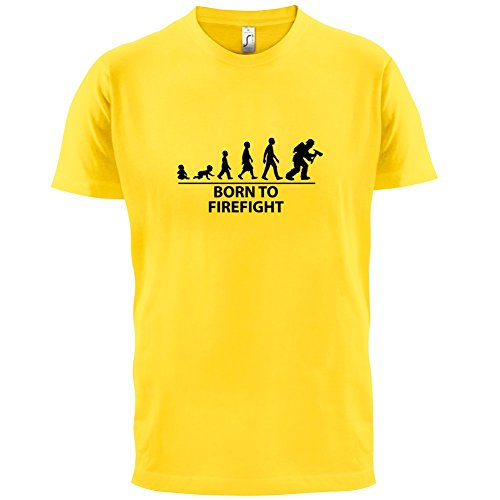 Born To Firefight - Herren T-Shirt - 13 Farben Gelb