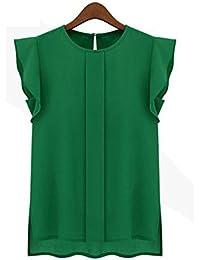 Koly Sexys Camisetas Para Mujer elegante Blusa Sin Mangas Chaleco De Gasa Suelto Camisetas y tops
