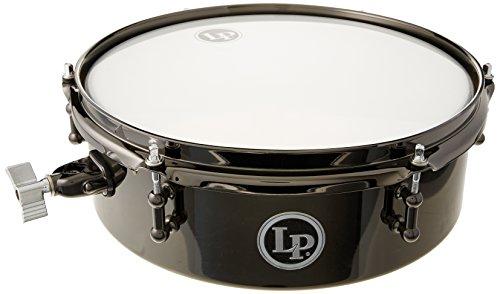 """LP Latin Percussion Timbales Drum Set Black Nickel 12"""" x 4"""" Finish, Klemme für alle gängigen Rod-Durchmesser von 9,5mm - 12,5mm, LP812-BN, Trommel, Drum"""