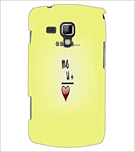 Printdhaba Quote D-5527 Back Case Cover For Samsung Galaxy S Duos S7562