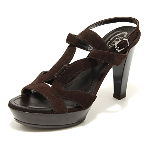 2451 marrone sandalo TOD' S scarpe donna shoes women [35]