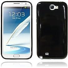 Samsung Galaxy Note 2/N7100nero TPU gomma gel di silicone con protezione schermo e panno per la pulizia