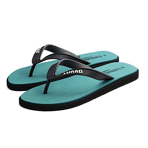 GSHGA Shoes Herren Flip-Flops Sommer rutschfeste Outdoor-Sandalen Flip-Flops Herren lässige Gummi-Strandschuhe (Kunststoff-pet-träger)