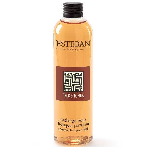 Esteban Paris - Ricarica di profumo 250ml TECK E TONKA per bouquet e diffusore in ceramica TET-039