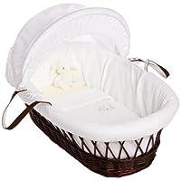 Izziwotnot Gift White Moses Basket