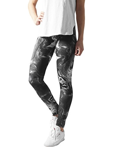 Urban Classics Ladies Smoked Marble, Leggings Donna, Mehrfarbig (Blk/Wht 50), Large