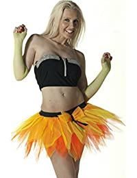 Crazy Chick 6 Layer Orange Yellow Petal Pumpkin TuTu Skirt
