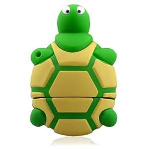 818-Shop No30900040008 Hi-Speed 2.0 USB-Sticks 8GB Lustige Schildkröte 3D grün