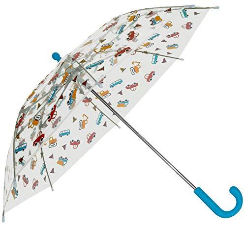 Baciami Transparenter Kinder Regenschirm - Stockschirm mit durchsichtigem Schirmdach, ⌀ 74cm, Buntes Muster für Jungen