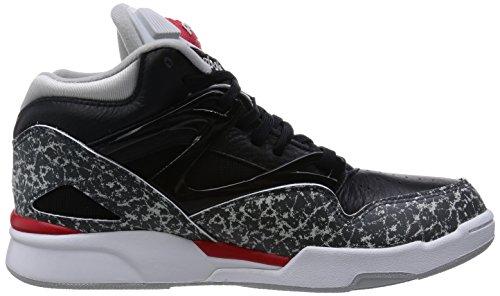 Reebok Pump Omni Lite Unisex-Erwachsene Hohe Sneakers Mehrfarbig (Black/Rivet Grey/Steel/Red Rush/White)