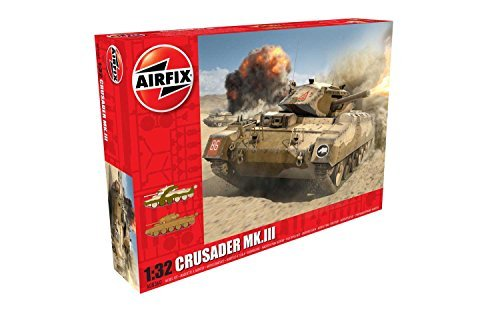 Airfix 1/32 Scale Model Kit Crusader MkIII Tank by Airfix